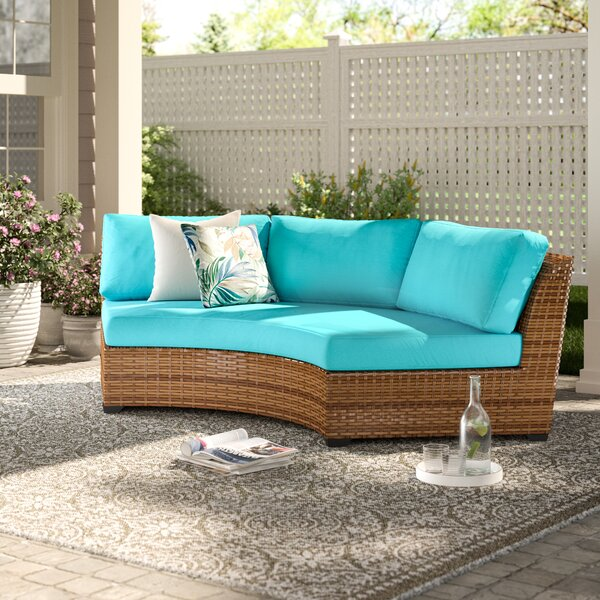 Waterbury Patio Sofa with Cushions by Sol 72 Outdoor Sol 72 Outdoor