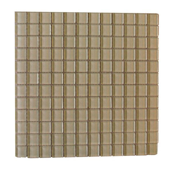 Metro 1 x 1 Glass Mosaic Tile in Light Brown by Abolos