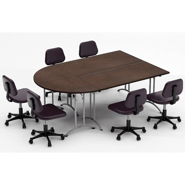 Meeting Seminar 3 Piece Half-Round 30H x 60W x 90L Conference Table Set by Team Tables