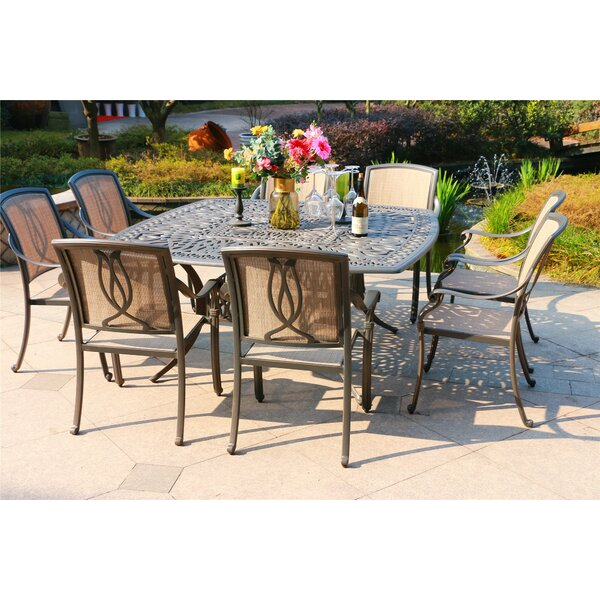 Bane Aluminum 9 Piece Dining Set by Canora Grey