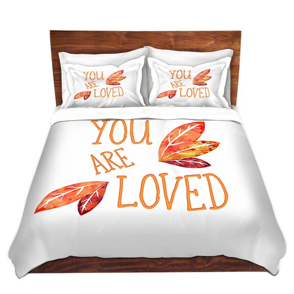 Haxby Zara Martina You Are Loved Naranja Leaves Duvet Cover Set