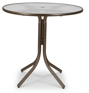 Obscure Acrylic 42 Round Bar Height Dining Table by Telescope Casual