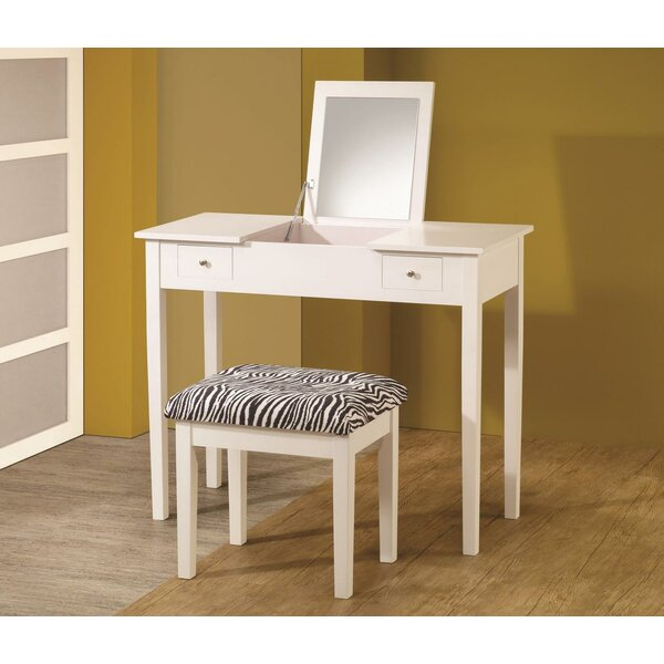 Chesson Contemporary Vanity Set with Mirror by House of Hampton