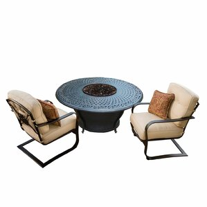 Owego 6 Piece Rust Resistant Aluminum Conversation Set With Cushions