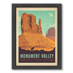 National Park Monument Valley Framed Vintage Advertisement by East Urban Home