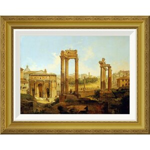 'The Forum, Rome' by Jean Victor Louis Faure Framed Painting Print by Global Gallery