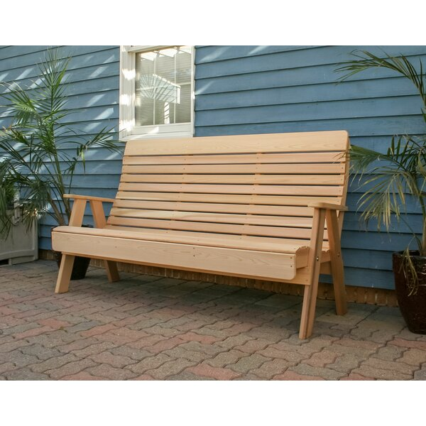 Florio Wooden Garden Bench by August Grove