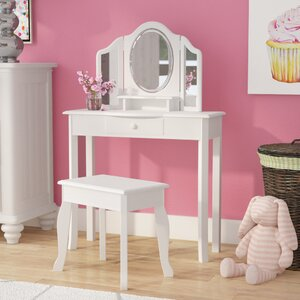 Matilda 2 Piece Vanity Set with Mirror