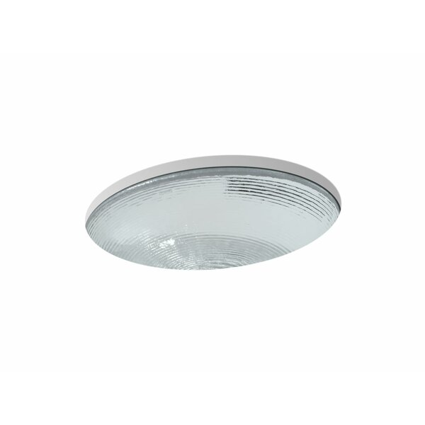 Artist Editions Whist Glass Oval Undermount Bathroom Sink