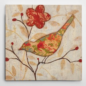 Premium 'Song Bird II Revisited' by Eugene Tava Painting Print on Wrapped Canvas by Wexford Home