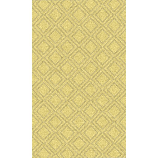 Crittenden Gold Geometric Rug by Wrought Studio