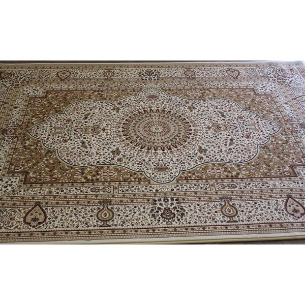 Bonifacio Traditional Contemporary Oriental Cream Area Rug by Astoria Grand
