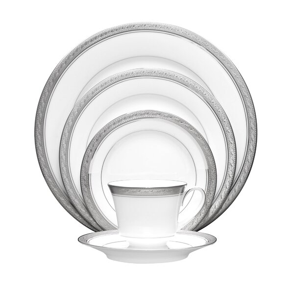 Crestwood Platinum 5 Piece Place Setting, Service for 1 by Noritake