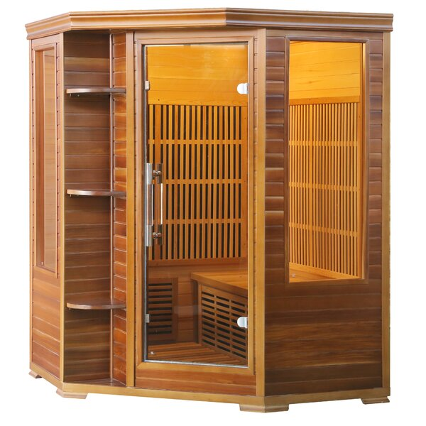 Cedar Elite 3 Person FAR Infrared Sauna by Radiant Saunas