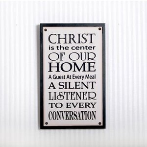 Christ Is Canvas Tack Sign Graphic Art on Wood by Adams & Co