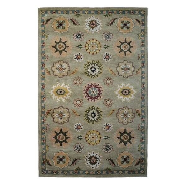 Wool Hand-Tufted Green/Light Blue Area Rug by Eastern Weavers