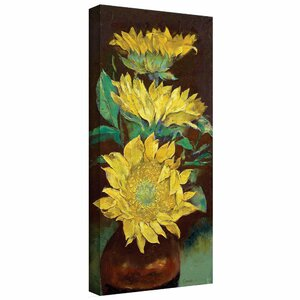 'Sunflowers' by Michael Creese Painting Print on Wrapped Canvas by ArtWall