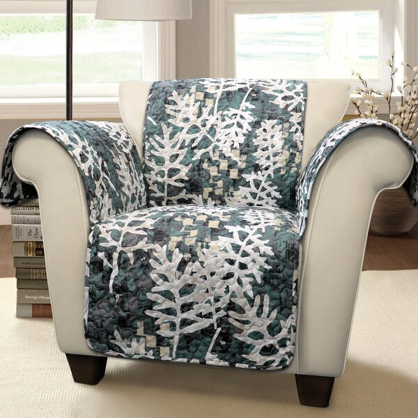 Caballero Leaves Box Cushion Armchair Slipcover by Millwood Pines