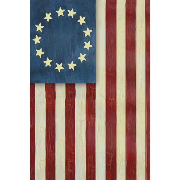 Betsy Ross 2-Sided Garden flag by Toland Home Gard
