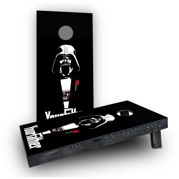 Your Father Darth Vader Cornhole Boards (Set of 2) by Custom Cornhole Boards
