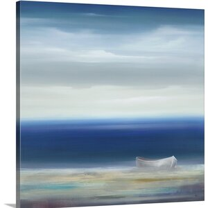 'Boat on Shore' by KC Haxton Painting Print on Canvas by Great Big Canvas