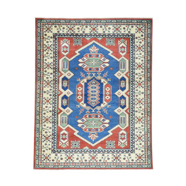 One-of-a-Kind Lawerence Hand-Knotted Denim Blue Area Rug by Canora Grey