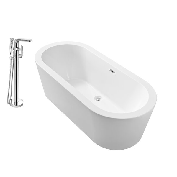 67 x 32 Freestanding Soaking Bathtub by Wildon Home ®