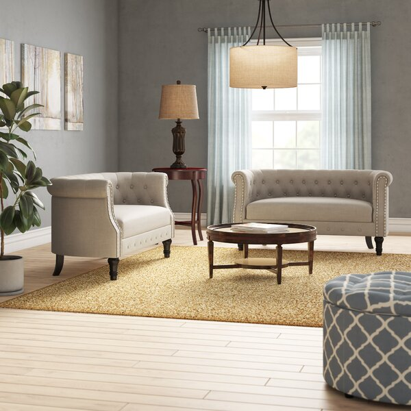 Celestia 3 Piece Living Room Set by Alcott Hill