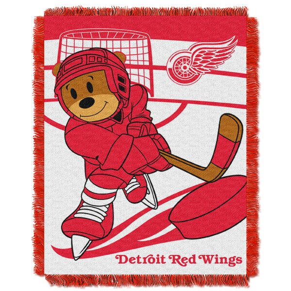 NHL Redwings Baby Woven Throw Blanket by Northwest Co.