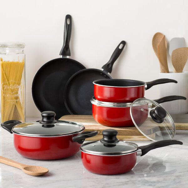 Wayfair Basics 10 Piece Nonstick Aluminum Cookware Set by Wayfair Basics™