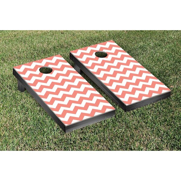 Basic Chevron Wedding Cornhole Game Set by Victory Tailgate