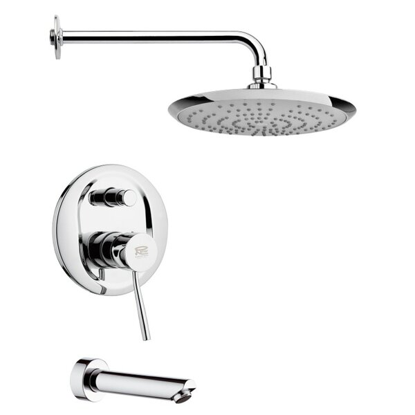 Peleo Diverter Tub and Shower Faucet with Valve by Remer by Nameek's Remer by Nameek's