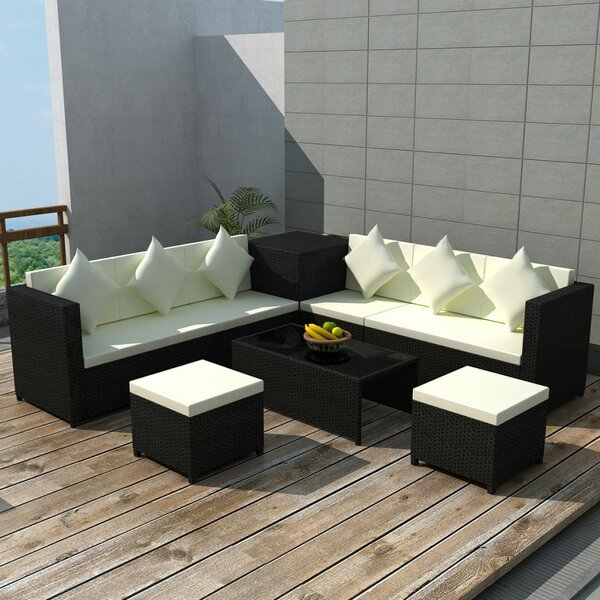 Rooks Garden 8 Piece Rattan Sofa Seating Group with Cushions by Orren Ellis