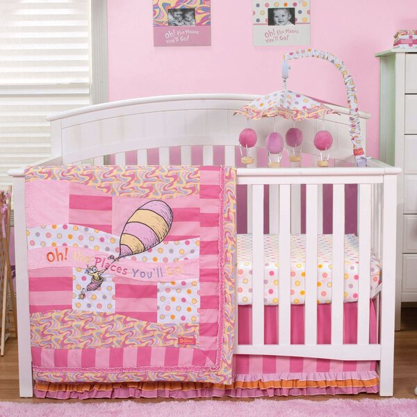 Dr Seuss Oh The Places You Ll Go 3 Piece Crib Bedding Set By Trend Lab.