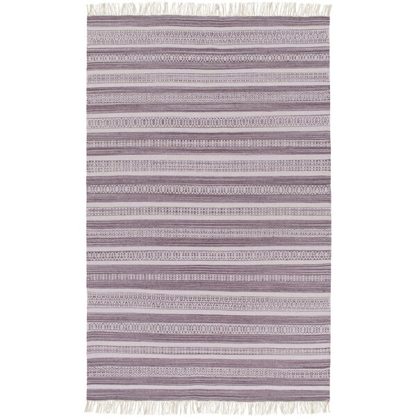 Nampa Hand Woven Cotton Lavender Area Rug by Bungalow Rose
