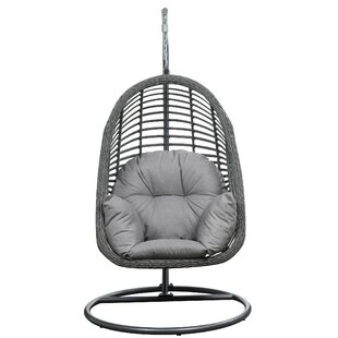 Pothier Hanging Basket Spuncrylic Swing Chair With Stand