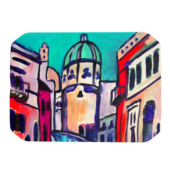 Procida Teal Placemat by KESS InHouse