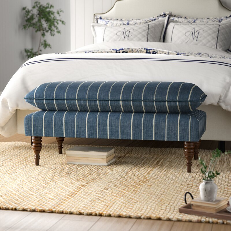 Astounding Jordao Upholstered Wood Bench Evergreenethics Interior Chair Design Evergreenethicsorg