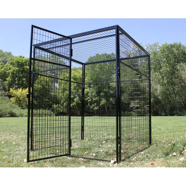 Animal Enclosure with Welded Wire Top by K9 Kennel
