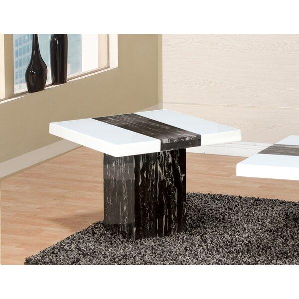 Ridgecrest Pedestal End Table By Orren Ellis
