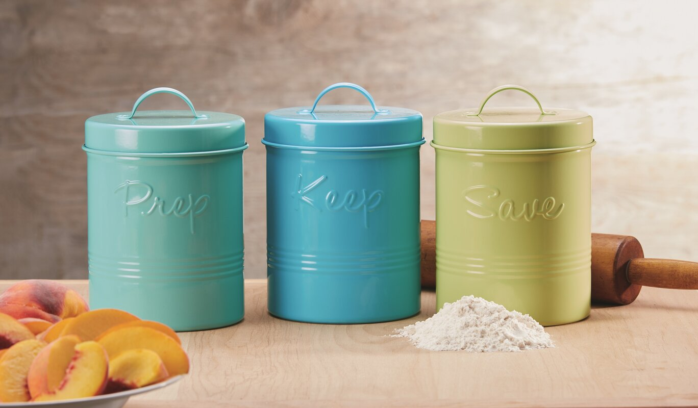 Global Amici Retro Fifties Metal Kitchen Canister Set & Reviews ...