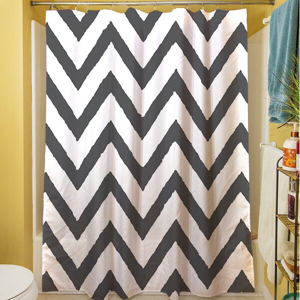 Zig Zag Shower Curtain by Manual Woodworkers & Weavers