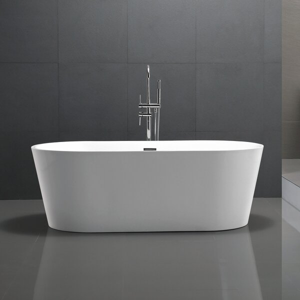 Chand Series 67'' x 23'' Freestanding Soaking Bathtub by ANZZI