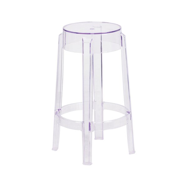 Arica Transparent 25.75 Patio Bar Stool by Ebern Designs