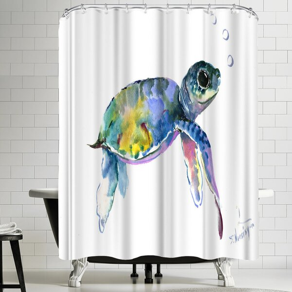 Suren Nersisyan Baby Sea Turtles 2 Shower Curtain by East Urban Home