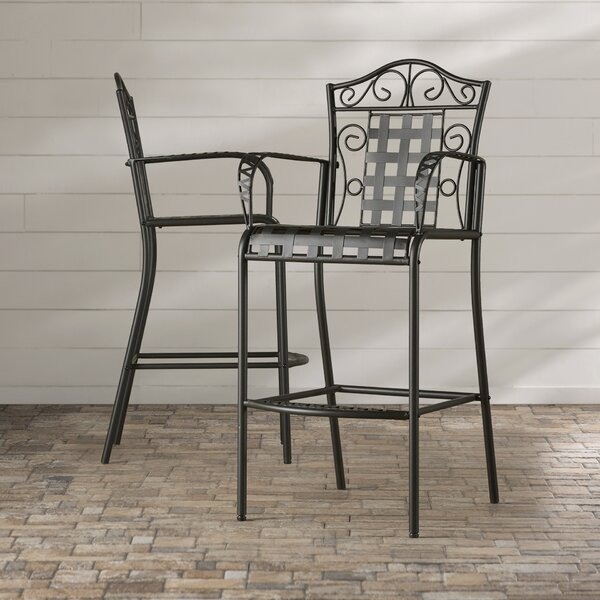 Abbottsmoor Patio Bar Stool (Set of 2) by Darby Home Co