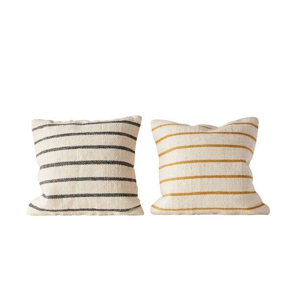 Balic Striped Throw Pillow Set by Gracie Oaks