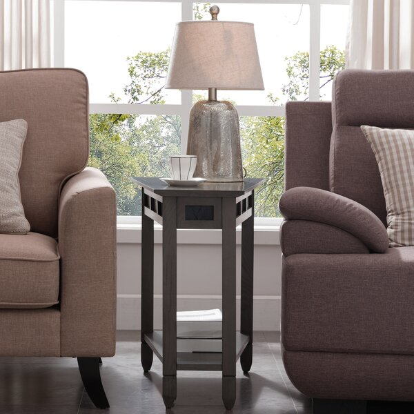Girardville Slate Recliner End Table by Charlton Home