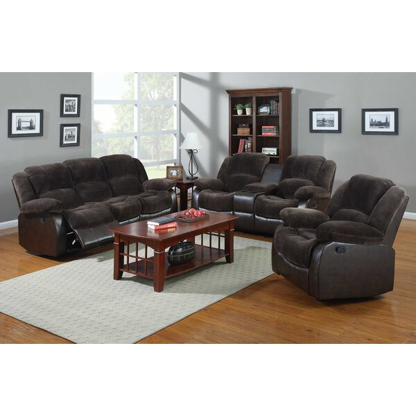 Perrysburg 3 Piece Leather Reclining Living Room Set By Winston Porter