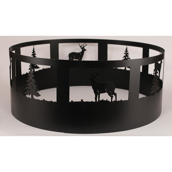 Gonzalez Deer Steel Charcoal Fire Ring by Loon Peak